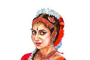 Portrait of beautiful indian lady
