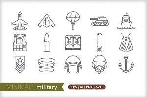 Minimal military icons