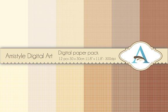Linen - Brown - Digital Papers