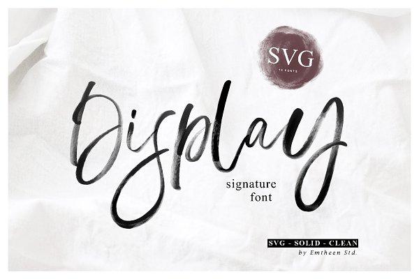 Display Signature Font - SVG