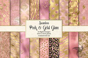 Pink and Gold Glam Digital Paper