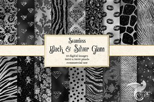 Black and Silver Glam Textures