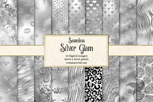 Silver Glam Digital Paper