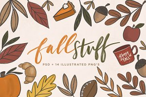 Fall Stuff | Illustrated PNG's