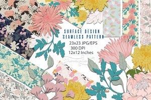 23JPG/EPS seamless floral pattern