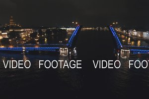 Bridge with illumination over the