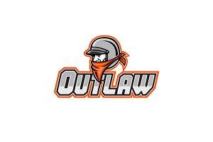 Outlaw Biker Mascot