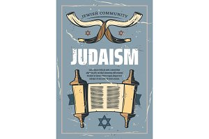 Judaism religious symbols