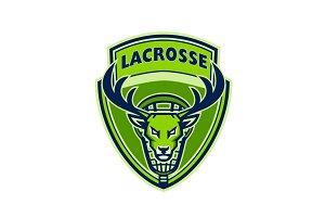 Deer Buck Stag Lacrosse Crest