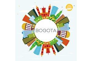 Bogota Colombia City Skyline