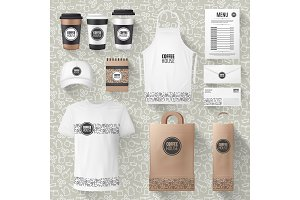 Coffee items mockups