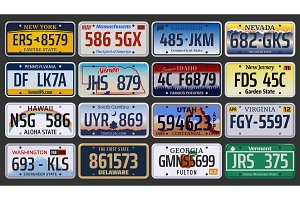 American registration number plates