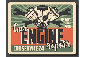 Car engine repair service