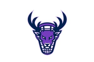 Stag Lacrosse Mascot