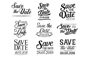 Lettering Save the Date and wedding