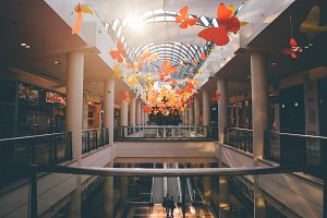 Shopping Mall Autumn Background
