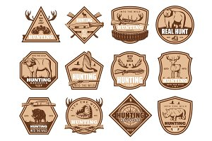 Icons and hunting equipment