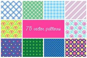 75 seamless vector patterns