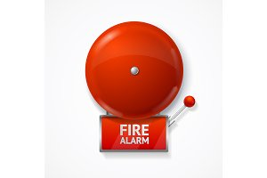 Red School, Fire or Alarm Bell Set