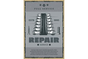 Repair service wrench tools