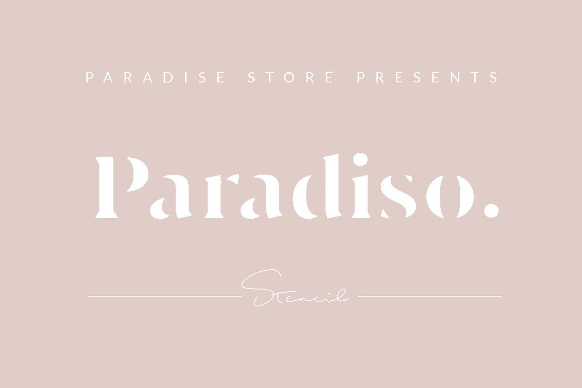 Paradiso Stencil font