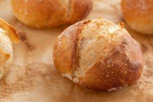 Freshly baked bread on dark gray