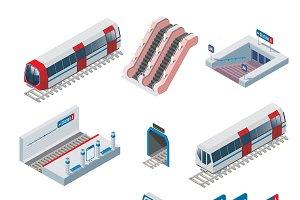 Isometric Metro Elements Collection
