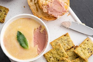 Fresh homemade chicken pate with