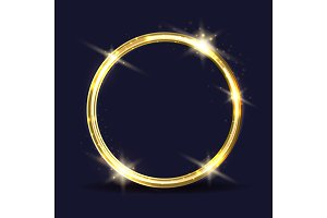 Golden ring icon