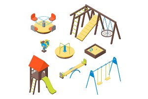 Kid Playground Elements Set