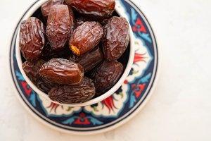 Fresh Medjool Dates in a bowl