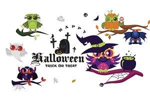 Happy Halloween flat set