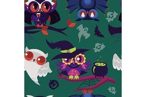 Halloween night-birds texture