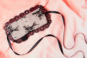 Beautiful female lace eye mask