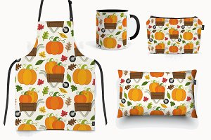 Pumpkin Patch seamless pattern
