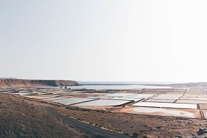Salt extraction pools in Spain