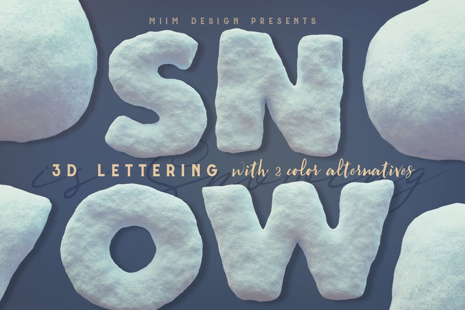 Snow - 3D Lettering