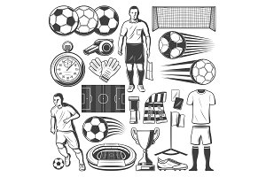 Football or soccer sport items