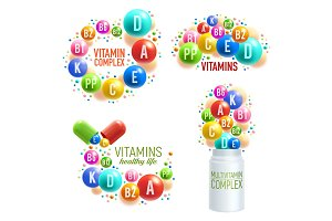 Vitamin pills and multivitamins