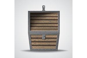 Empty wooden chest.