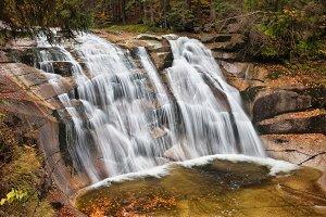 Mumlava Waterfall in Czechia