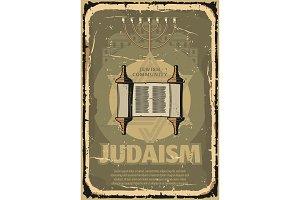 Judaism religious Torah scroll