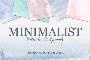 Minimalist Watercolor Backgrounds