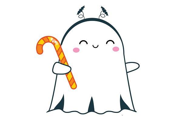 Halloween Cute Ghost Pre Designed Vector Graphics Creative Market Sígueme hay que jugar ����� torneos y sorteos una vez por semana. halloween cute ghost