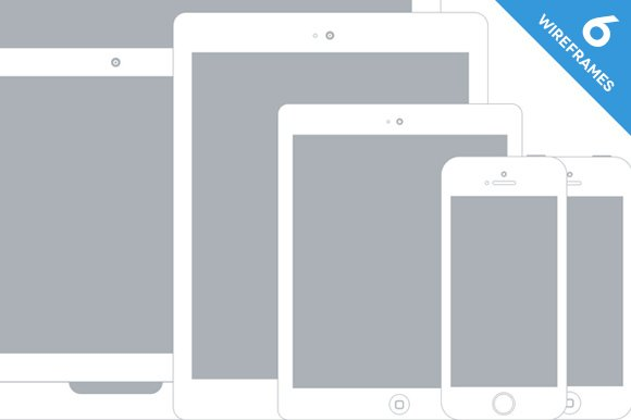 apple device wireframe mockups product mockups - Wireframe Ipad