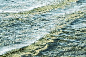water ripples on the beach shore