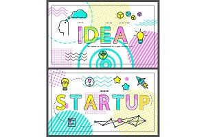Idea and Start Up Collection Vector