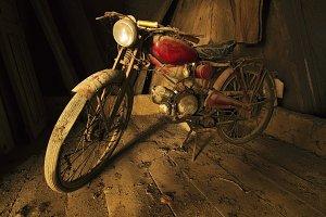 Moto Guzzi Hispania in old room
