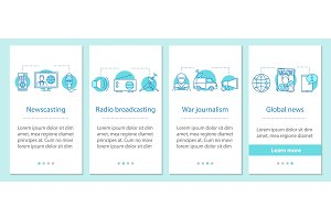 News onboarding screen