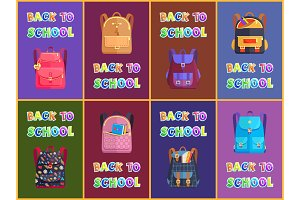 Fabric and Leather Schoolbags for
